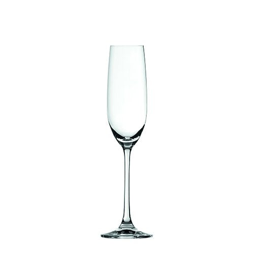 Crystal Champagne Flutes, Spiegelau Clear Glass Birthday Champagne Flute, 4 Set