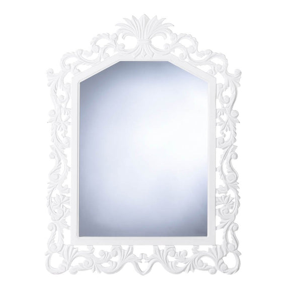 Bathroom Wall Mirror, Antique Fleur-de-lis Framed Bedroom Large Wall Mirror