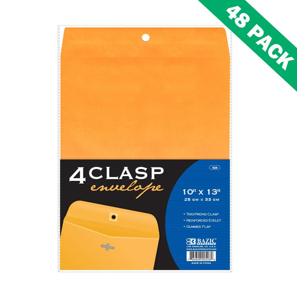 Envelopes 10x13 Clasp, Yellow Business Mailing Clasp Envelopes(4/pack)-set Of 48