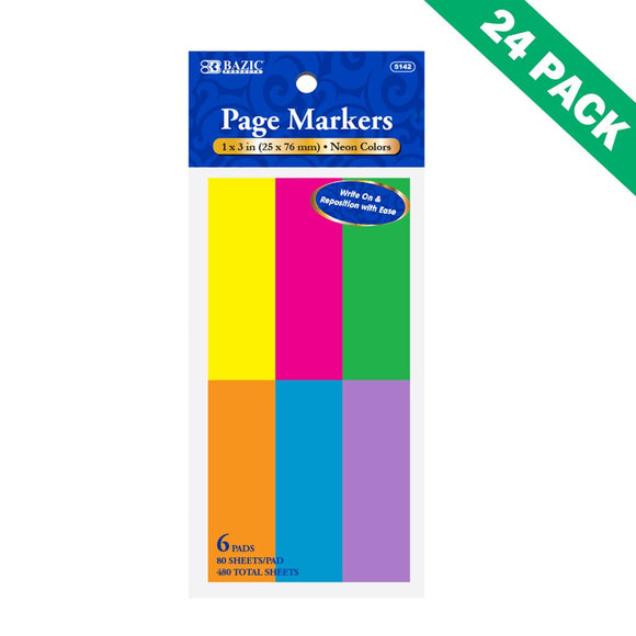 Page-marker, Sticky Office Supplies Flag Page Marker Set Of 24 (6/pack)
