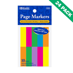 Marker Coloring Pages, Sticky Office Tab Page Markers Book -pack Of 24 (10/pack)