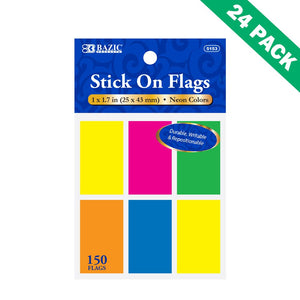 Page Marker, Office Colored Sticky Mini Page Markers Paper - Set Of 24 (6/pack)