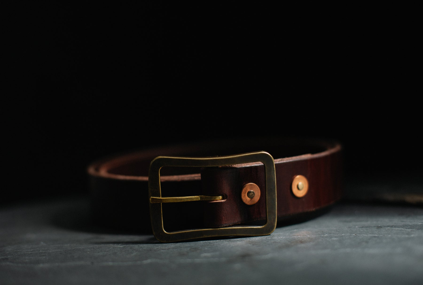 studebaker brass and leather belt