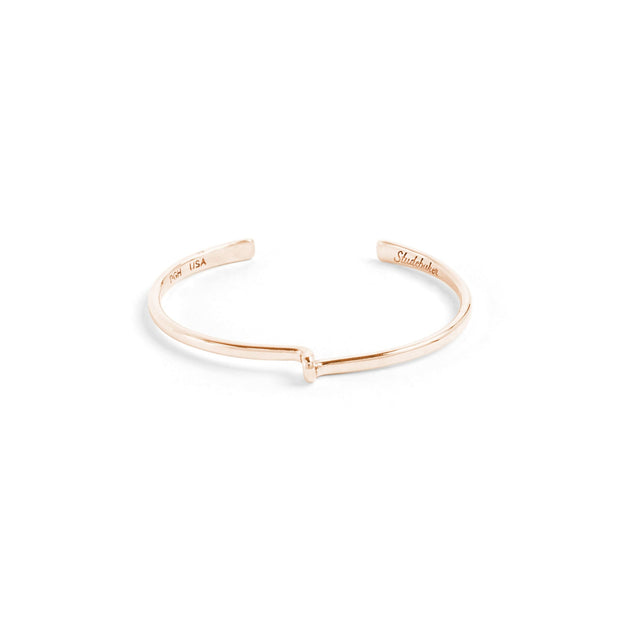 Avanti Cuff / Solid Gold - 10K / Small / Rose Gold - Cuffs /