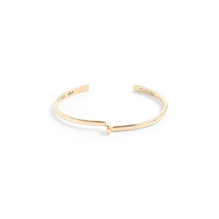 Avanti Cuff / Solid Gold - 10K / Small / Yellow Gold - Cuffs