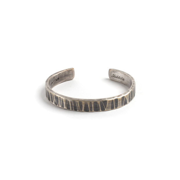 Bessemer Cuff - Small / Sterling Silver / Work Patina -