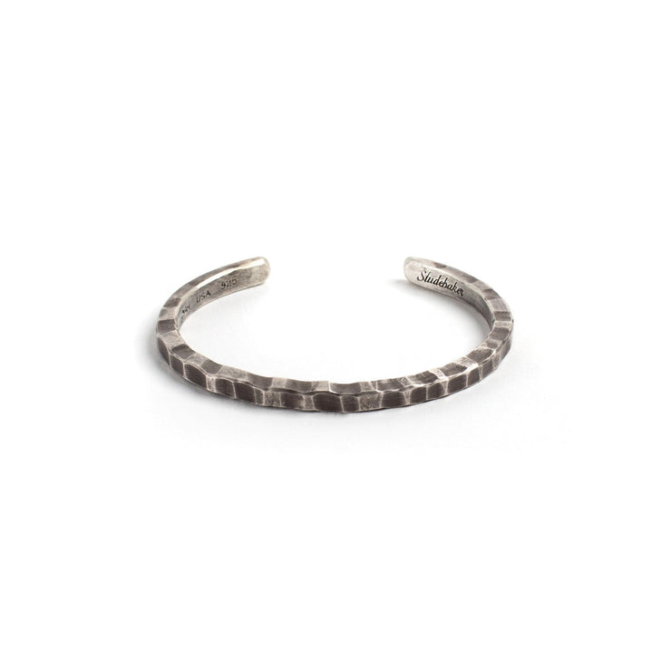 Braddock Cuff - Medium / Sterling Silver / Work Patina -