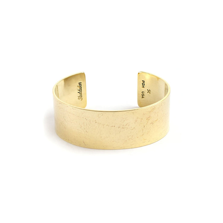 Broad Cuff - 1 inch - Small / Brass / Polished - Cuffs /