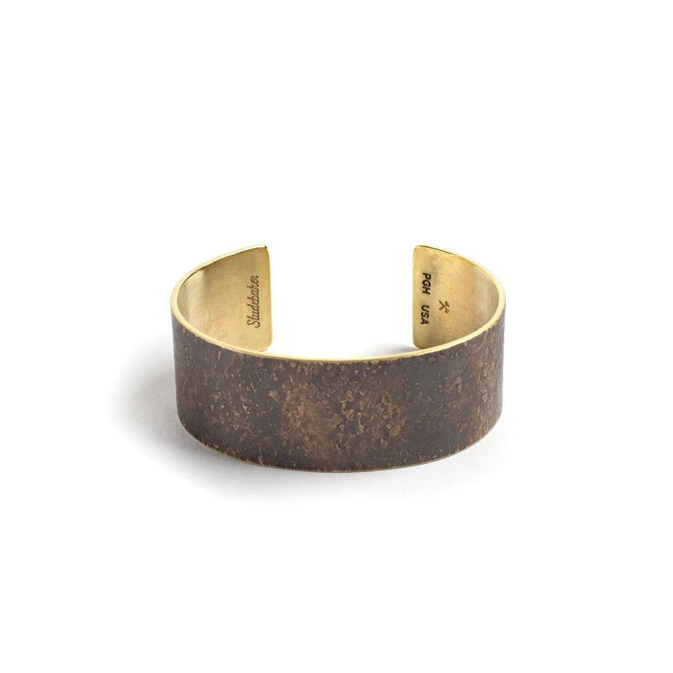 Broad Cuff - 1 inch - Small / Brass / Work Patina - Cuffs /