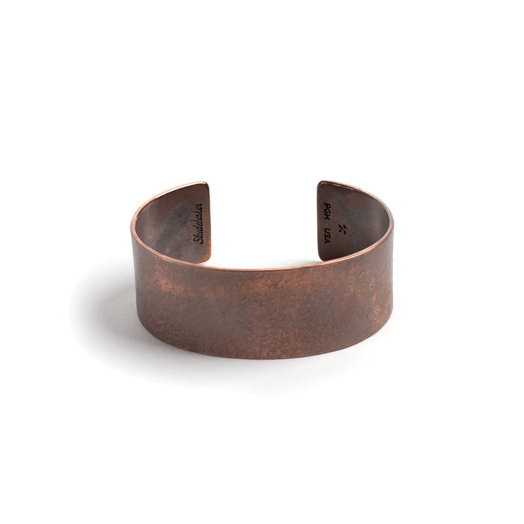 Broad Cuff - 1 inch - Small / Copper / Work Patina - Cuffs /