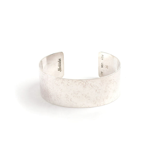 Broad Cuff - 1 inch - Small / Sterling Silver / Polished -