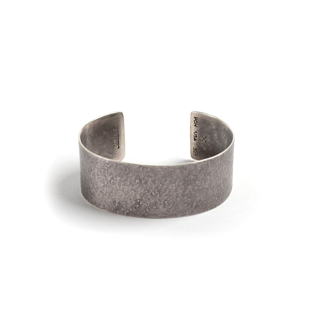 Broad Cuff - 1 inch - Small / Sterling Silver / Work Patina