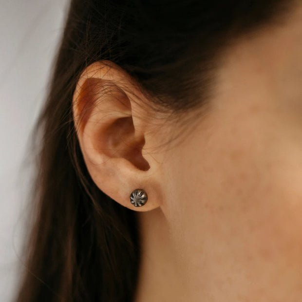 Carved Studs - Earrings