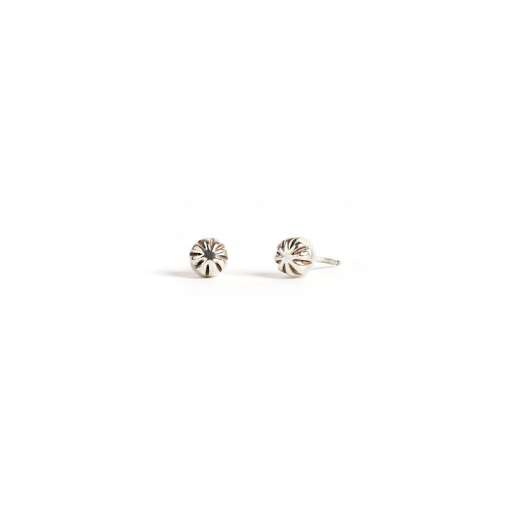 Carved Studs - Sterling Silver / Polished - Earrings