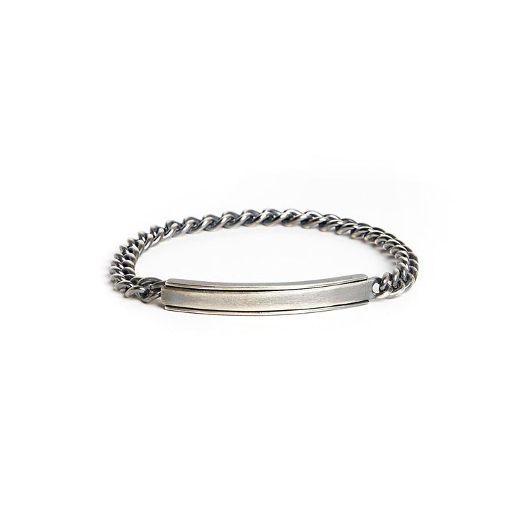 Channel Bracelet - Small / Sterling Silver / Work Patina -