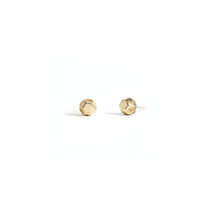 Faceted Studs - Brass / Polished - Earrings