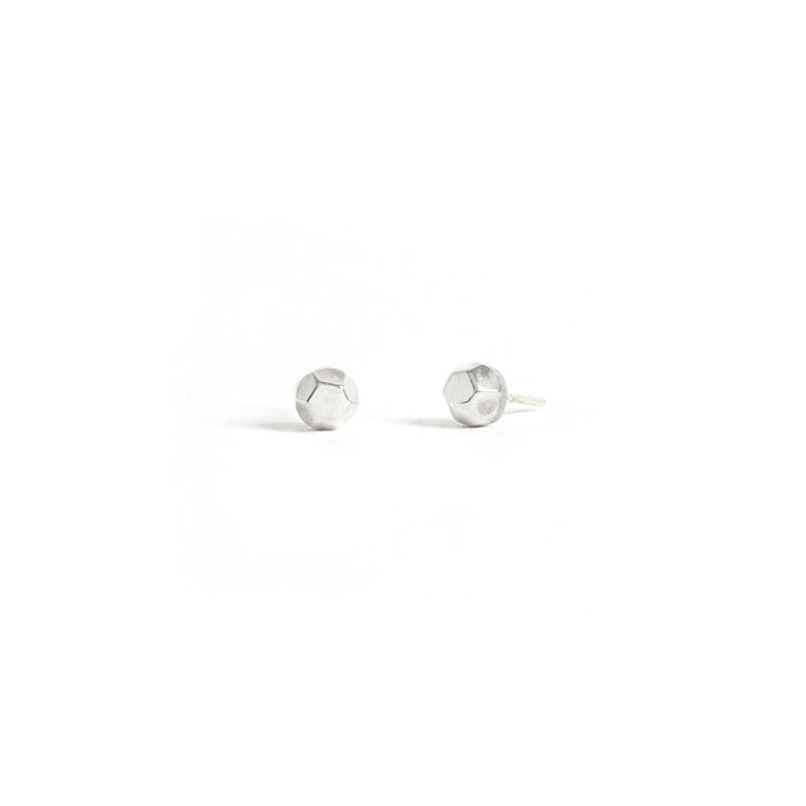 Faceted Studs - Sterling Silver / Polished - Earrings