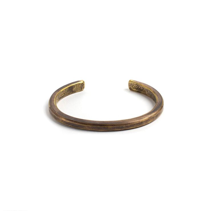 Heavyweight Classic Cuff - Small / Brass / Work Patina -