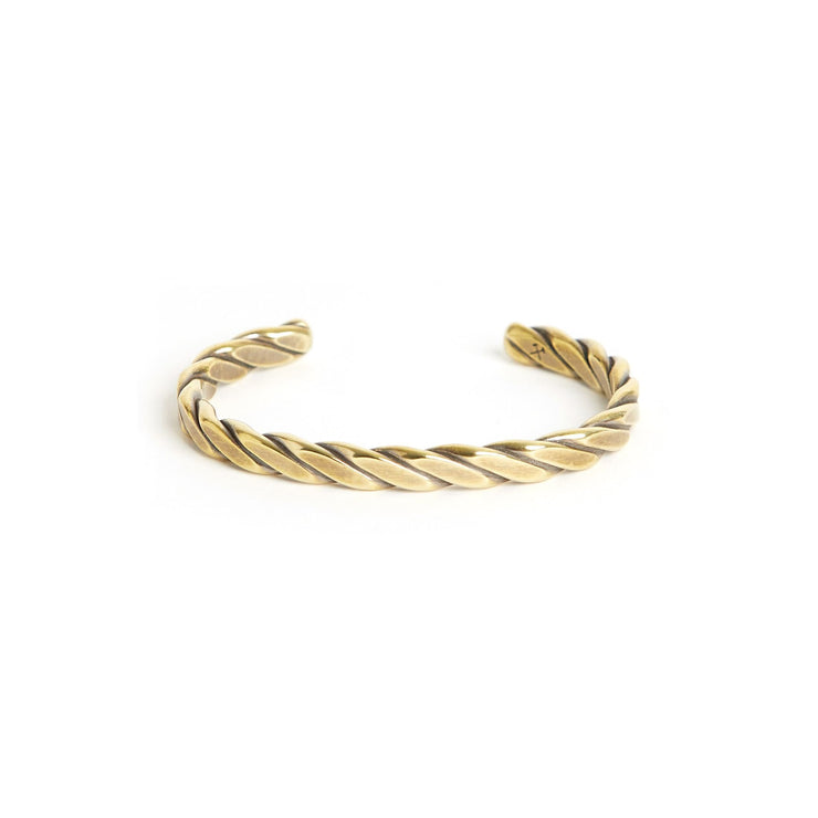 Heavyweight Plait Cuff - Small / Brass / Work Patina - Cuffs