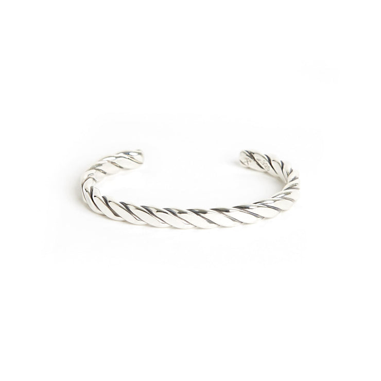 Heavyweight Plait Cuff - Small / Sterling Silver / Work