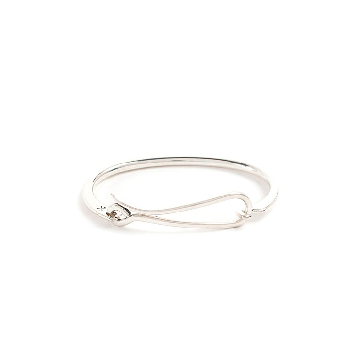 Hook Bracelet - Small/Medium / Sterling Silver / Polished -