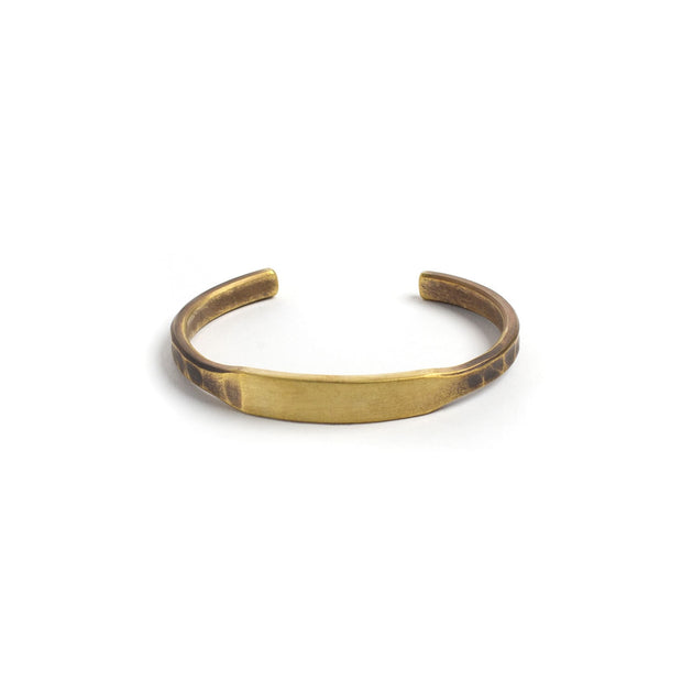 ID Cuff - Small / Brass / Work Patina - Cuffs / Bracelets