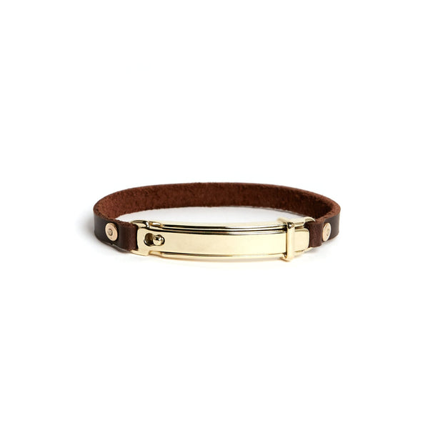 Lock Bracelet - Small / Brass / Polished