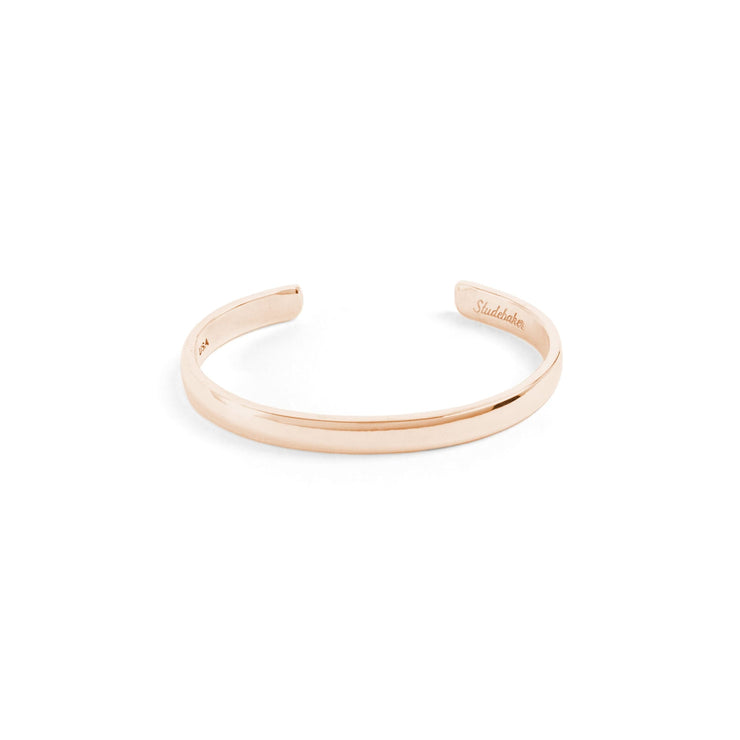 Lodge Cuff / Solid Gold - 10K / Small / Rose - Cuffs /