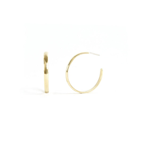 Lodge Hoops - Brass / Polished - Earrings