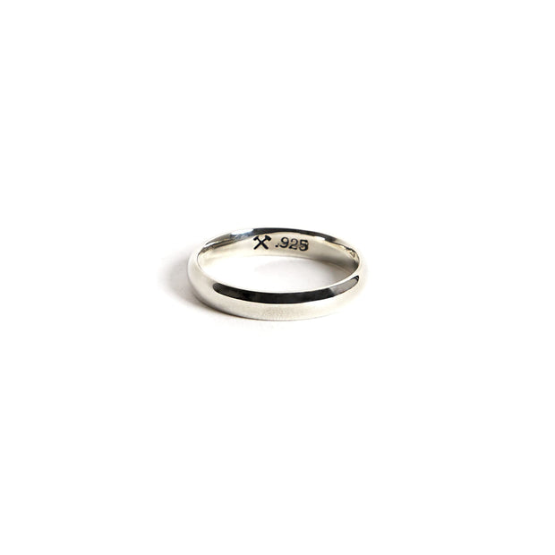 Lodge Ring / Sterling Silver - 4 / Polished / 4mm - Rings