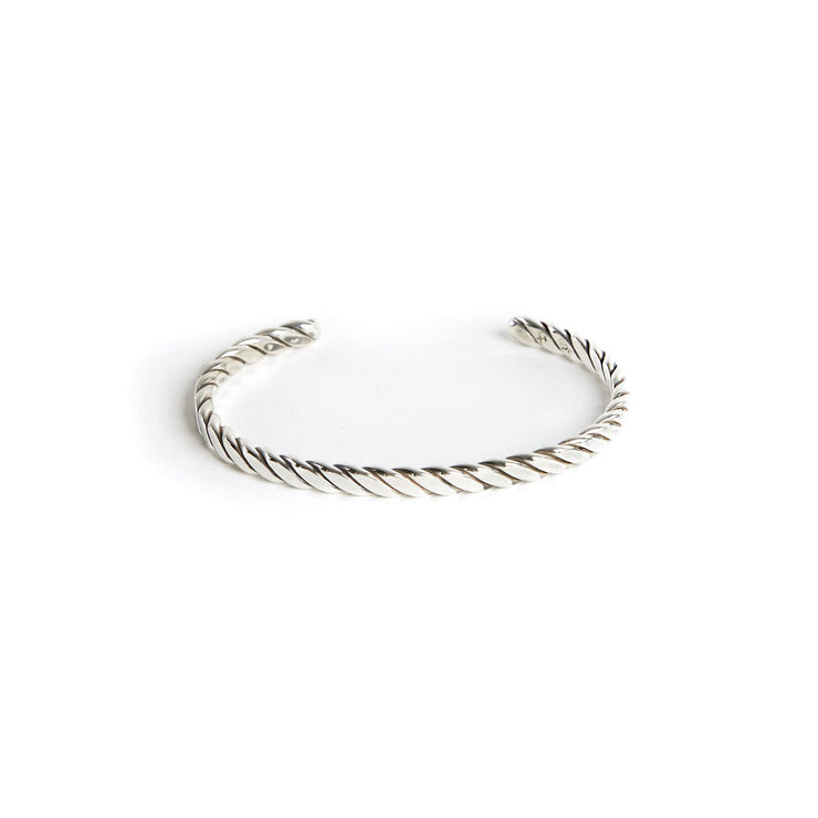 Plait Cuff - Small / Sterling Silver / Work Patina - Cuffs /