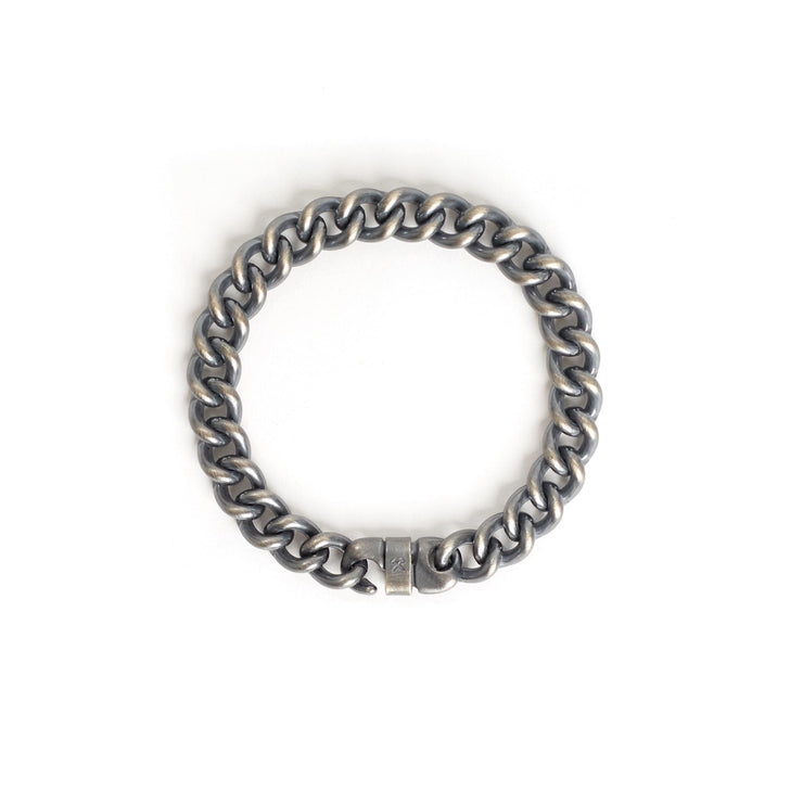 Signature Bracelet - Small / Sterling Silver / Work Patina -