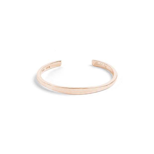 Workshop Cuff / Solid Gold - 10K / Small / Rose - Cuffs /