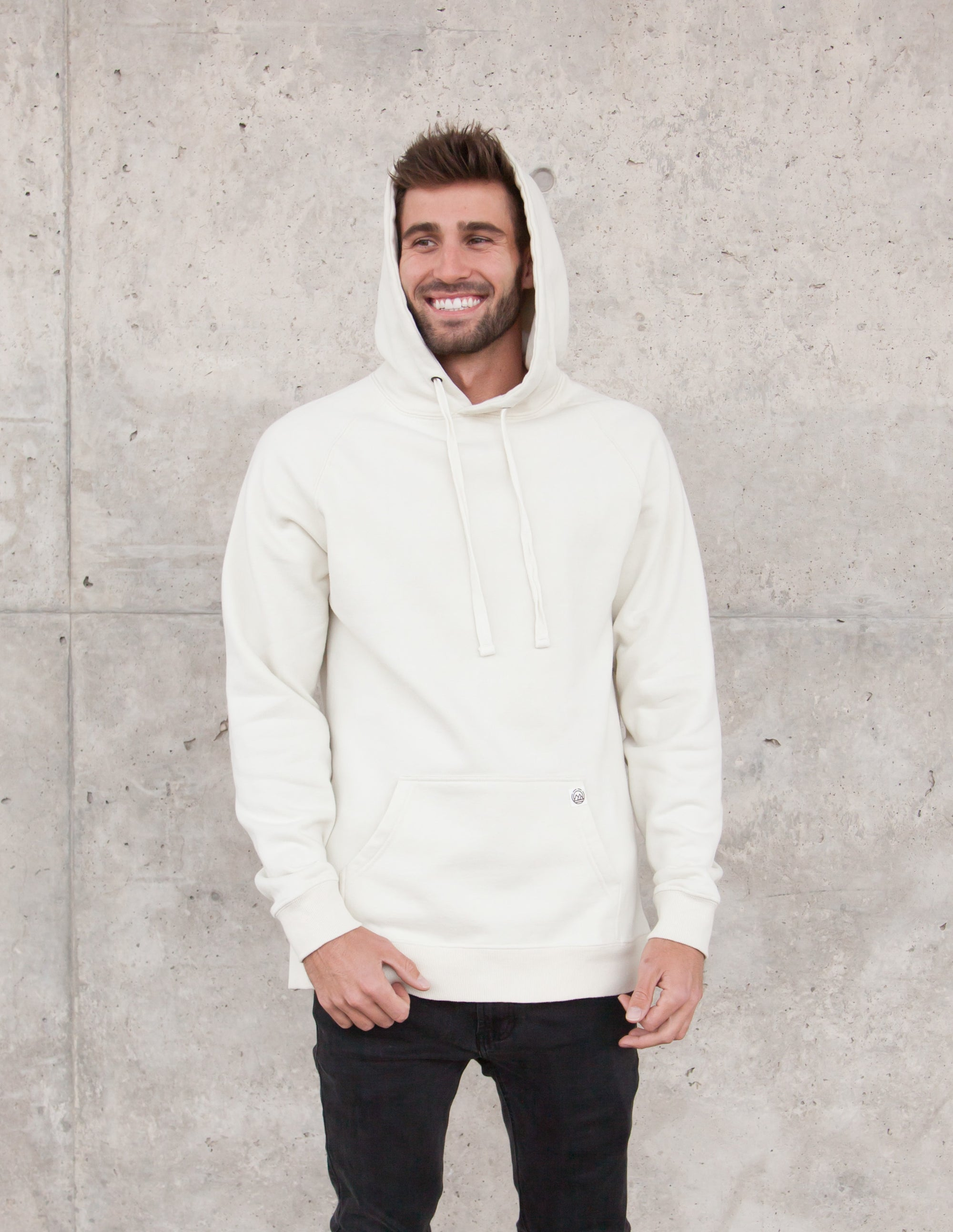 mago collection perfect mens hoodie in sand