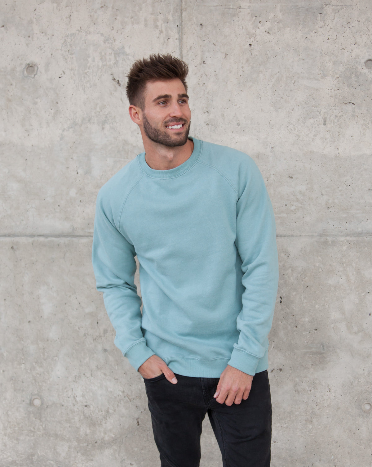 MAGO crewneck sweatshirt in Lake