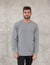 Sun-washed plain long sleeve t shirt in cement
