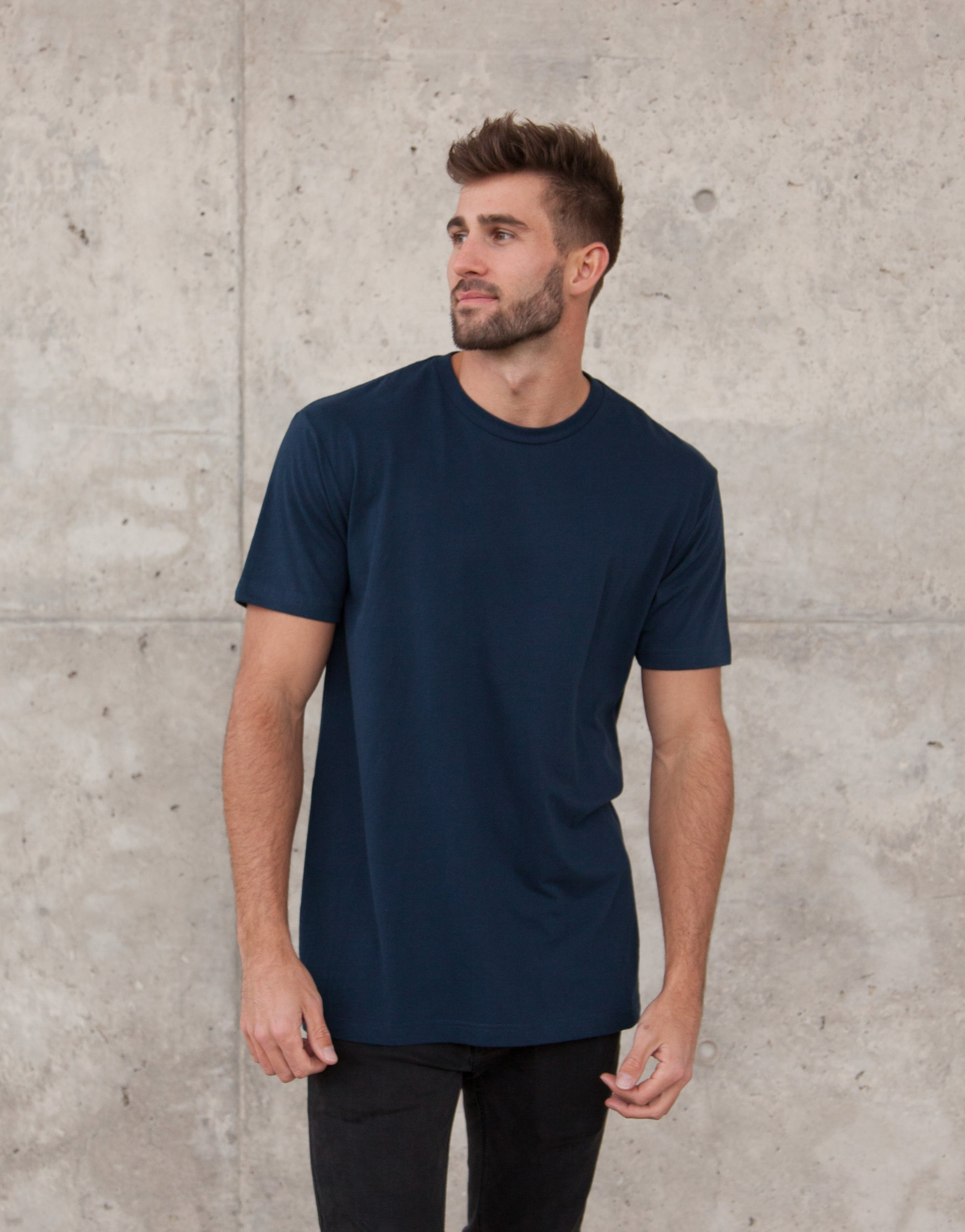 Mago Navy blue short sleeve t-shirt