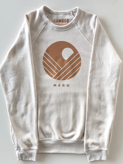 MAGO Saddle Brown Moon Graphic Cream Sweatshirt