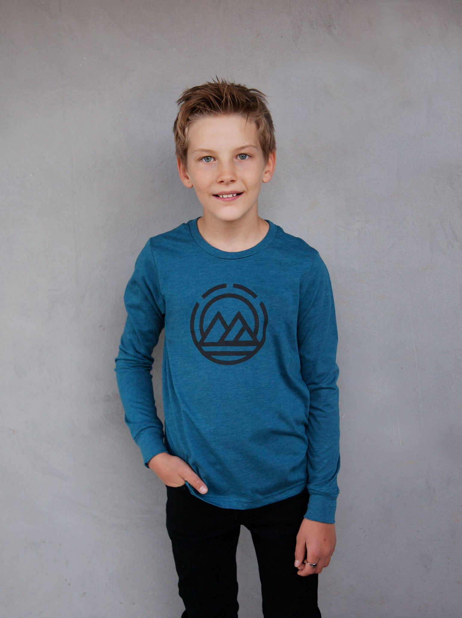 MAGO KIDS Lake Blue Long Sleeve T-Shirt