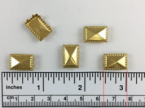 1000pcs 1068 Brass Nailhead Square
