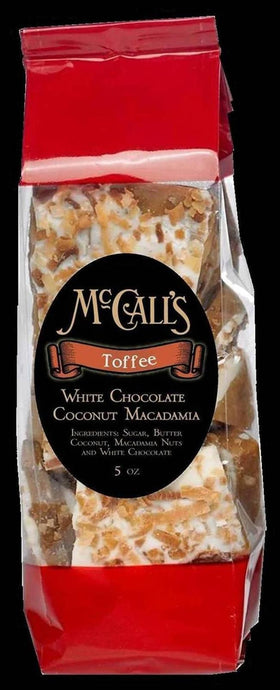 White Chocolate Coconut Macadamia Toffee - Gift Bag