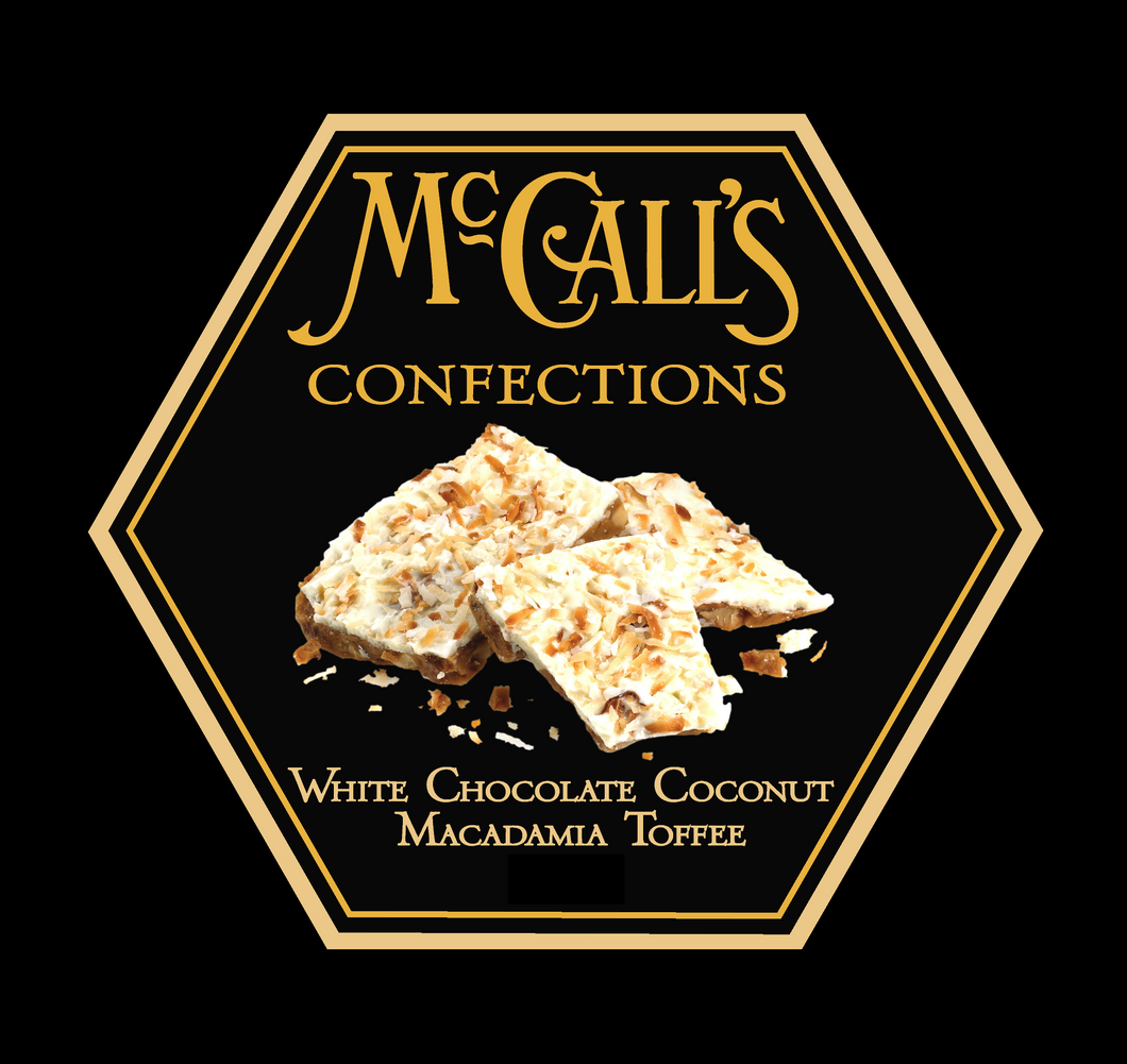 White Chocolate Coconut Macadamia Toffee - Gift Box