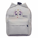 Cute Cat Ear Canvas Backpack