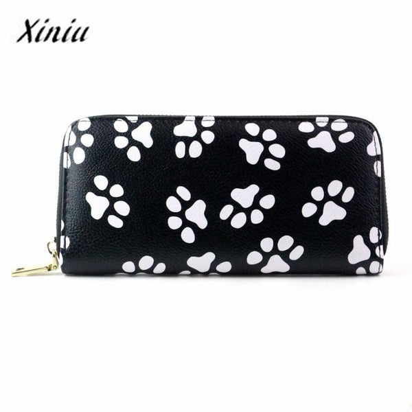 Xiniu Wallets Women Long Clutch Smiling Face Paw Long Purse Wallet Card Holder Bag Carteira Feminina