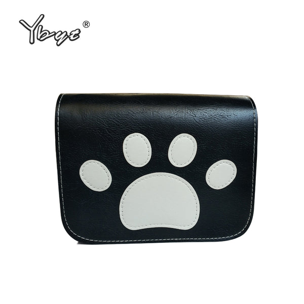 YBYT brand 2017 new paw prints flap handbags hotsale women shopping coin satchel ladies joker shoulder messenger crossbody bags