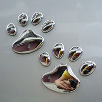 1 Pair 3D Silver Decals for Car or Motorcycle