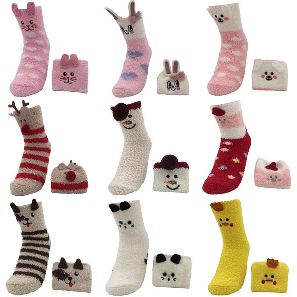 Fuzzy, Comfy, Cotton 3D Animal Socks