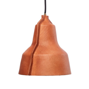 Leather lamp shade