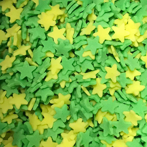Stars - Green and Yellow
