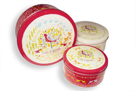 Tins - 12 Days of Christmas Set of 3 Tins